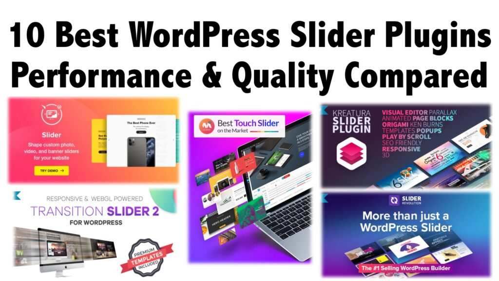 10 Best WordPress Slider Plugins Performance & Quality Compared