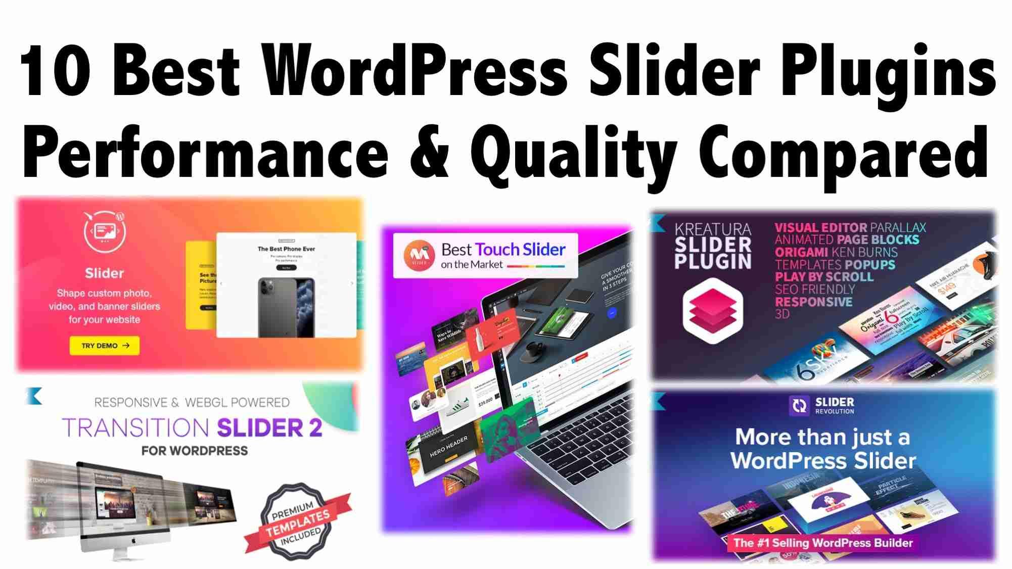 10 Best WordPress Slider Plugins Performance & Quality Compared