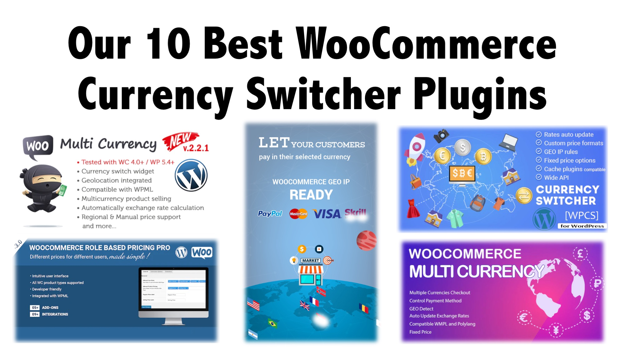 Our 10 Best WooCommerce Currency Switcher Plugins