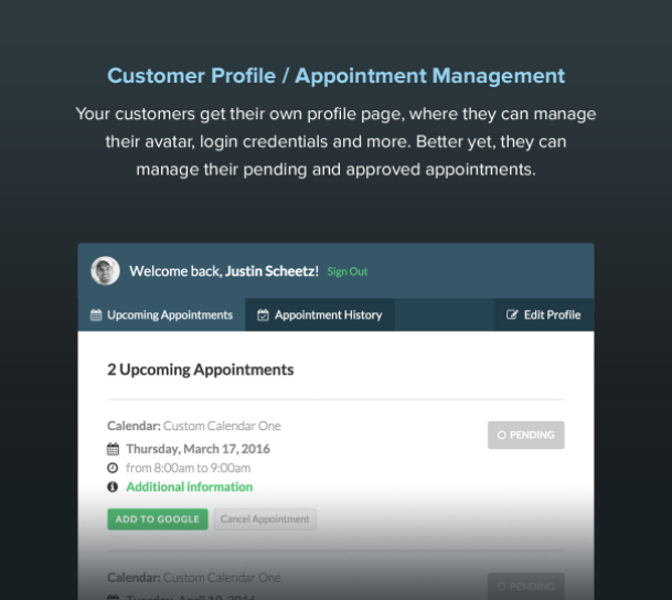 Booked - Appointment Booking for WordPress - 10