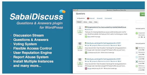 6. Sabai Discuss - Q&A Forum WordPress Plugin