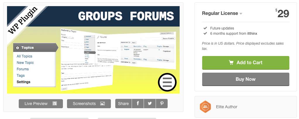 8. Groups Forums wordpress Plugins