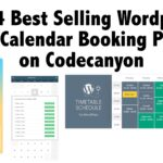 Top 4 Best Selling Wordpress Event Calendar Booking Plugins on Codecanyon