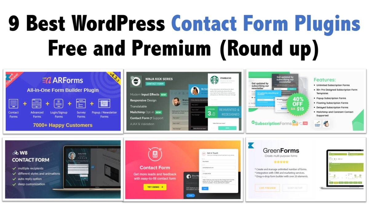 9 Best WordPress Contact Form Plugins Free and Premium (Round up)