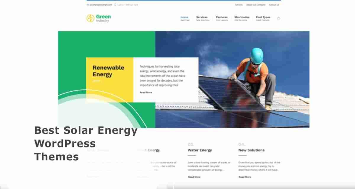 Best Solar Energy WordPress Themes