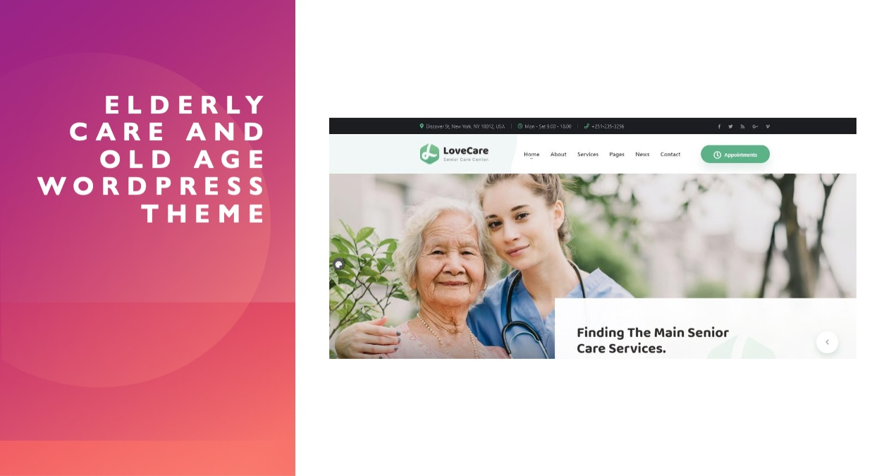 Elderly Care And Old Age WordPress Theme