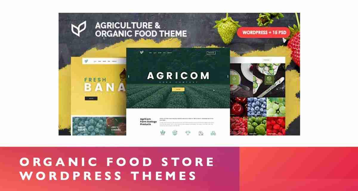 Organic Food Store WordPress Themes