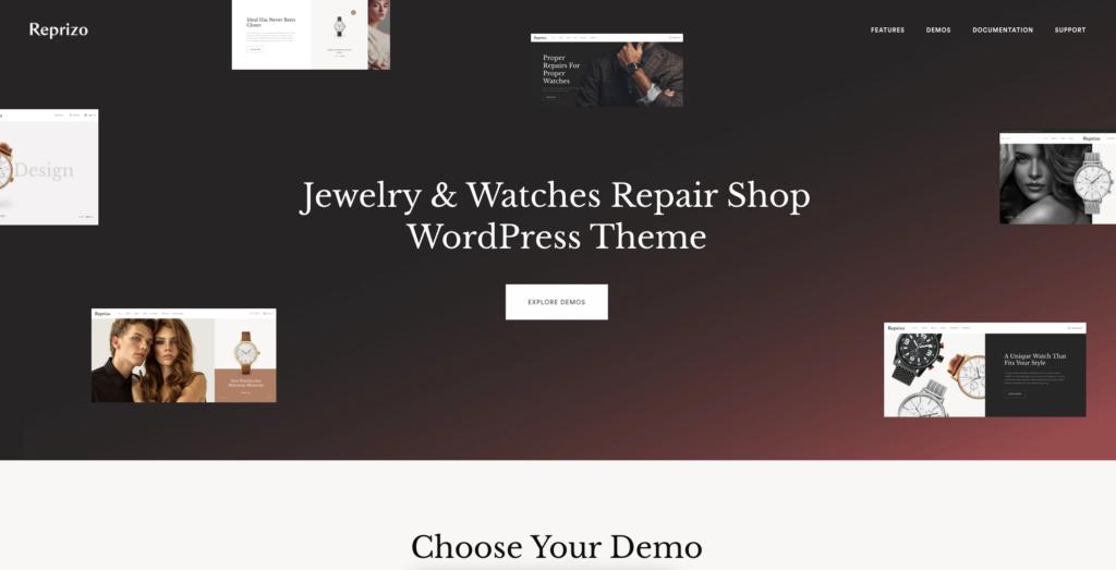 3.  Reprizo - Jewelry & Watch Shop WordPress Theme