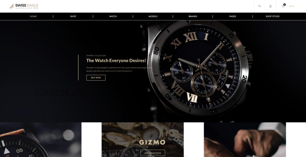 4.  SwissEagle - Watch Store WordPress Theme