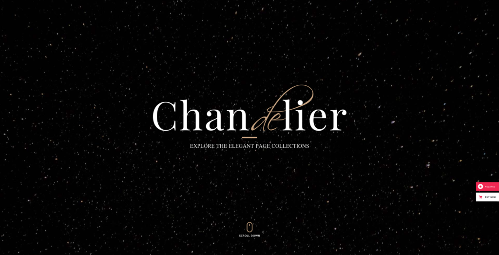 6. Chandelier - Luxury Theme for Custom Brands
