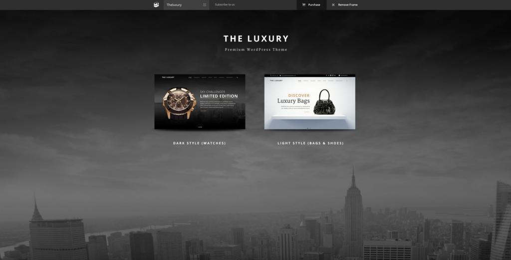 7. The Luxury - Dark / Light Responsive WordPress