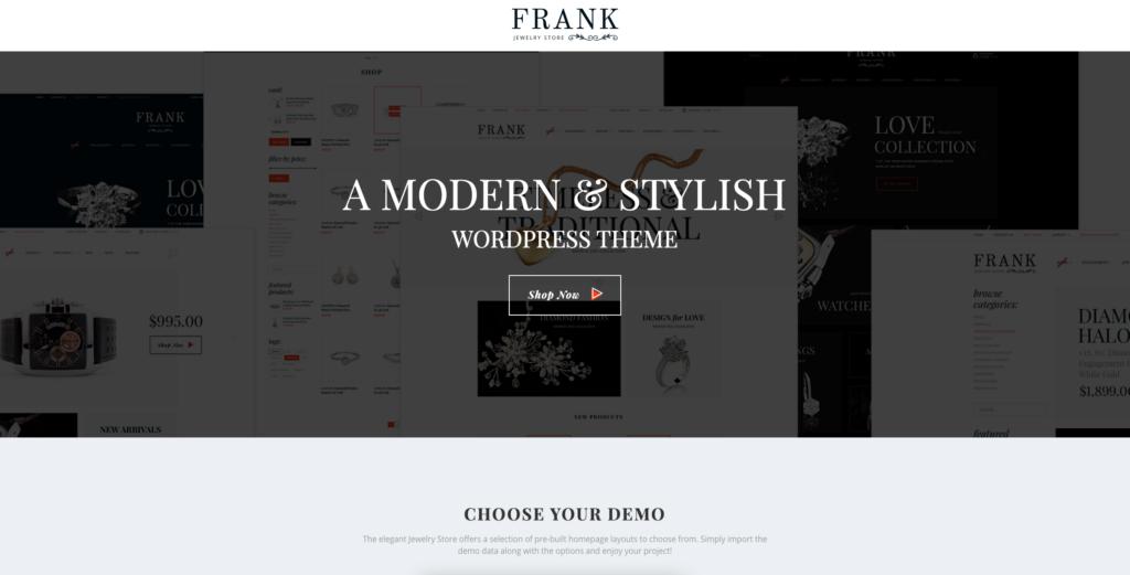 8. Jewelry & Watches Online Store WordPress Theme