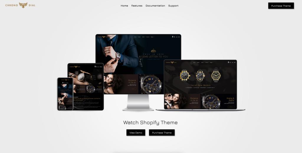 10. Chrono Dial - Watch Shopify Theme