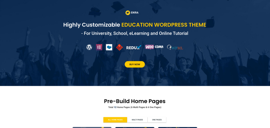 9. Eikra - Education WordPress Theme