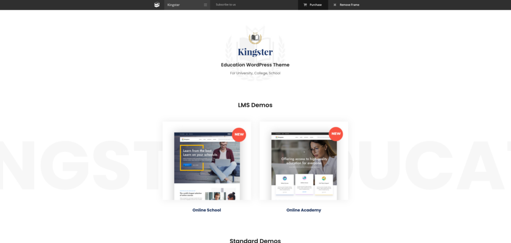 8. Kingster - LMS Education For University, College and School