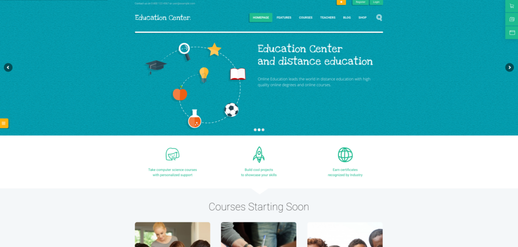 10. Education Center | LMS Online University & School Courses Studying