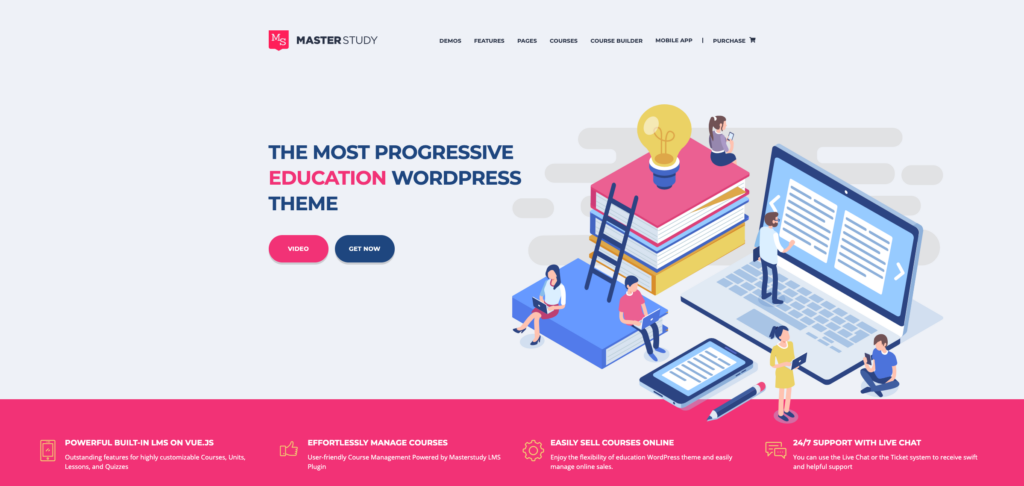 3. Education WordPress Theme - Masterstudy