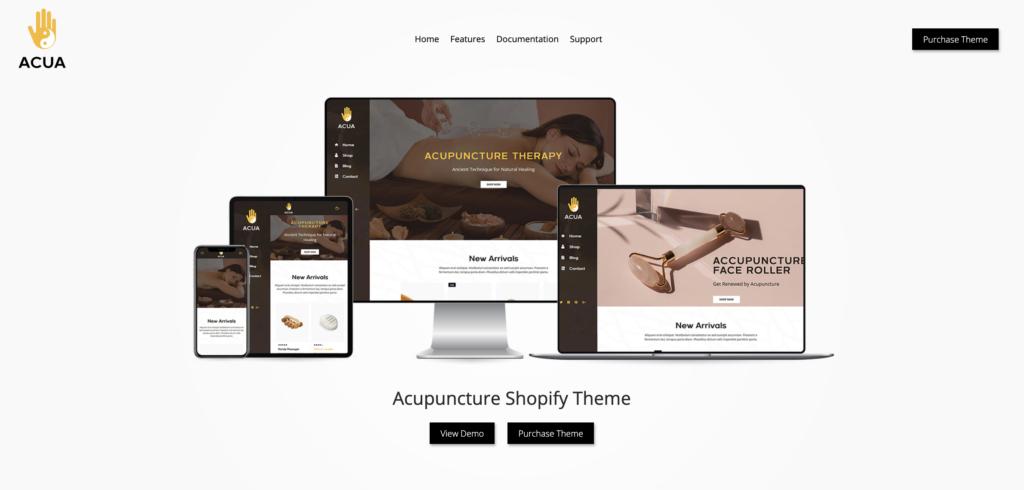 10. Acua - Shopify Medical Store, Health Shop Theme