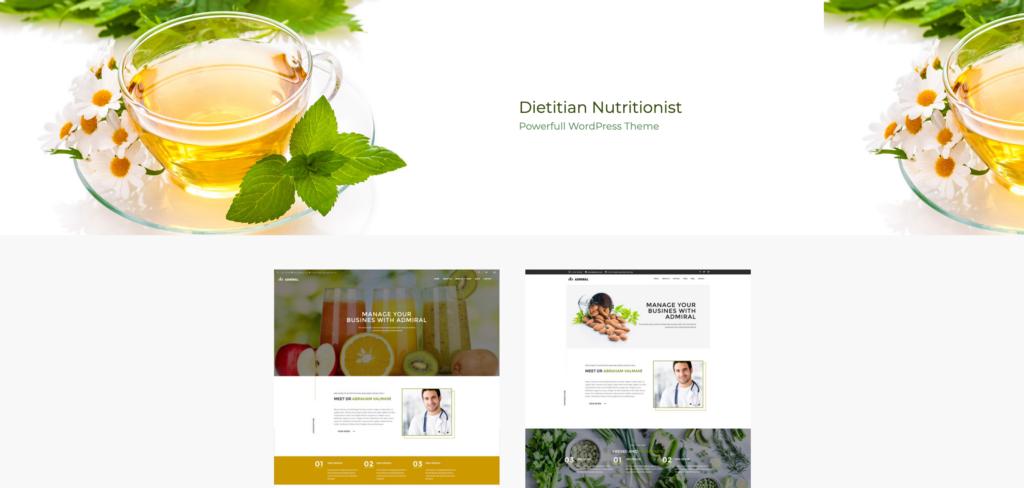 3.  Dietitian - Nutrition Health Professionals WordPress Theme