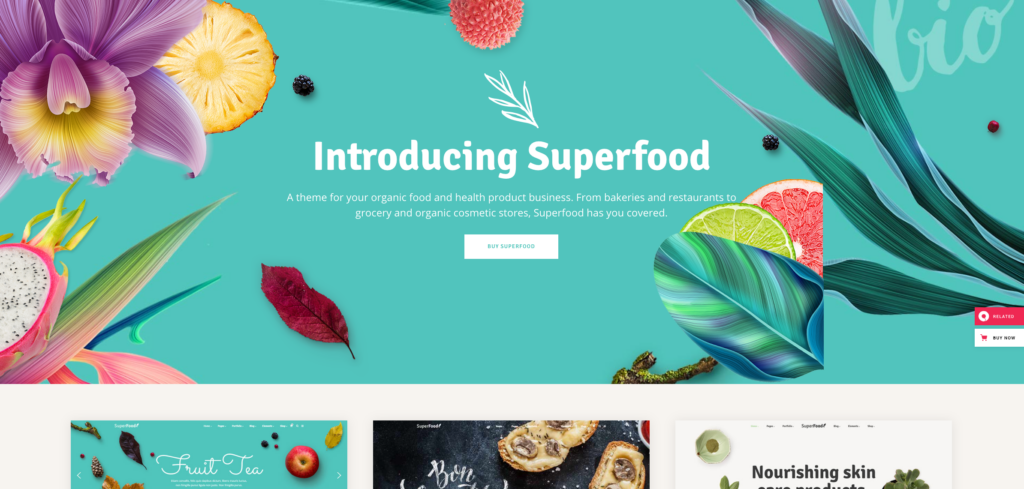 4.  Superfood - Organic Food Products Theme