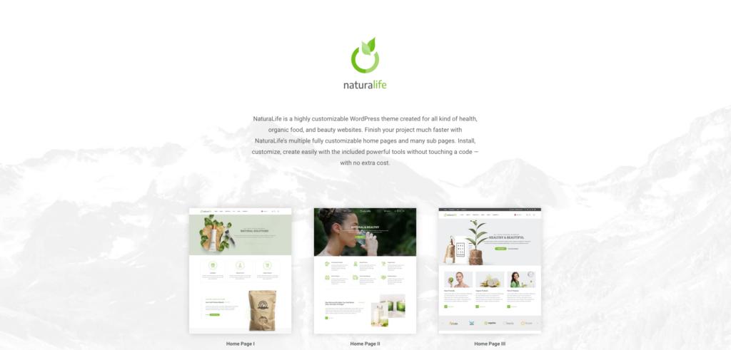 5.  NaturaLife | Health & Organic WordPress Theme