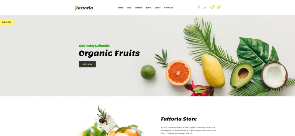 7.  Fattoria - Organic Farm Natural Store WooCommerce Theme