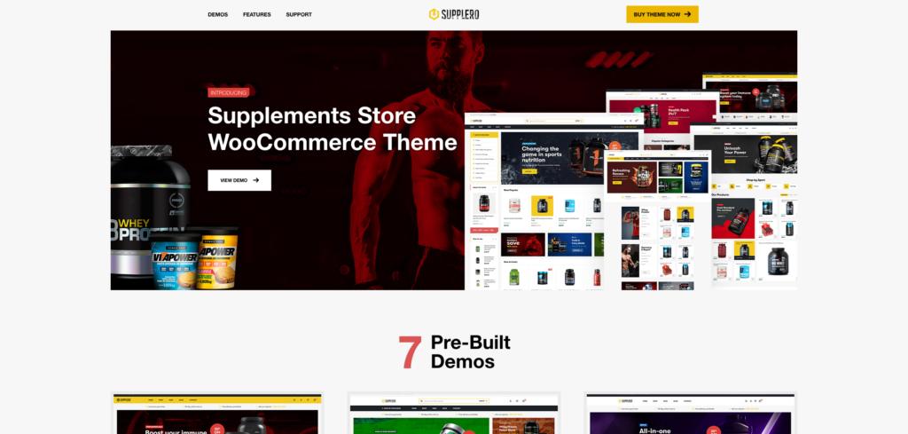 12. Supplero - Supplement Store WooCommerce Theme