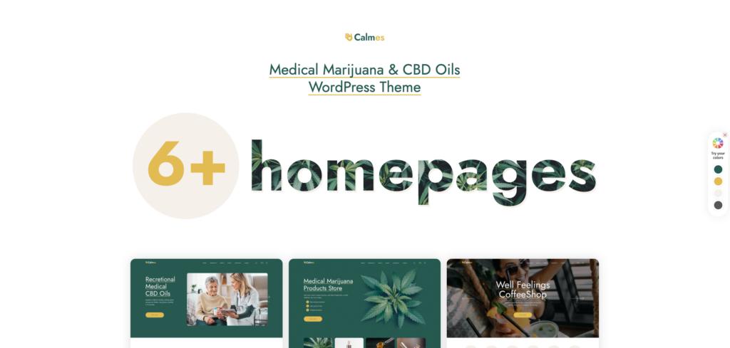 13. Calmes - Medical Marijuana & Coffeeshop WordPress Theme