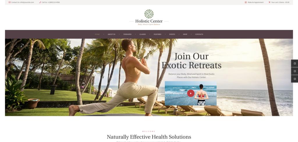 14. Holistic Center - Wellness and Spa Salon WordPress Theme
