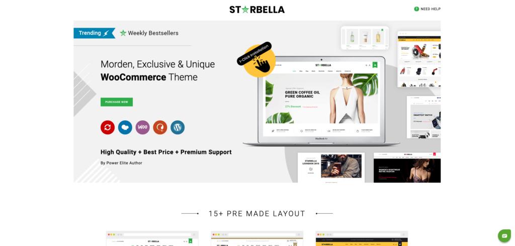 15. StarBella - Multipurpose WooCommerce Theme