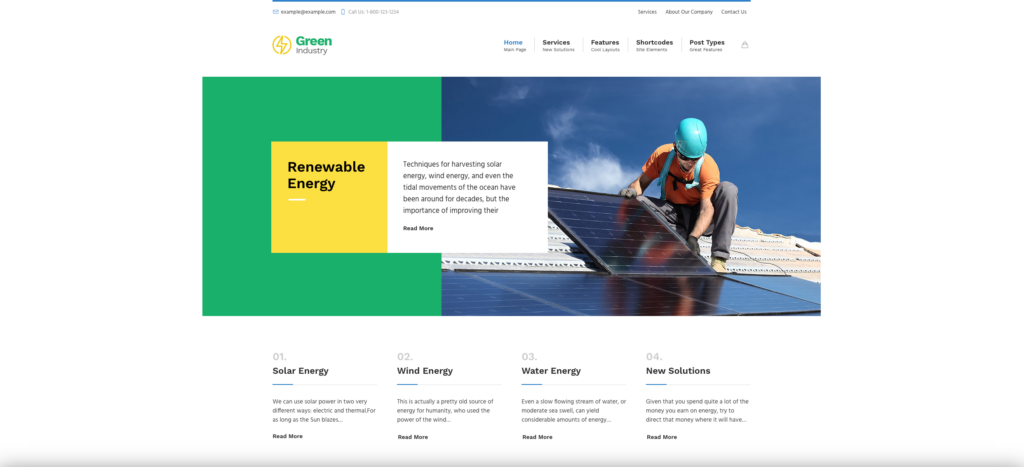 9. Green Industry - Renewable Energy & Ecology Friendly Industrial Theme