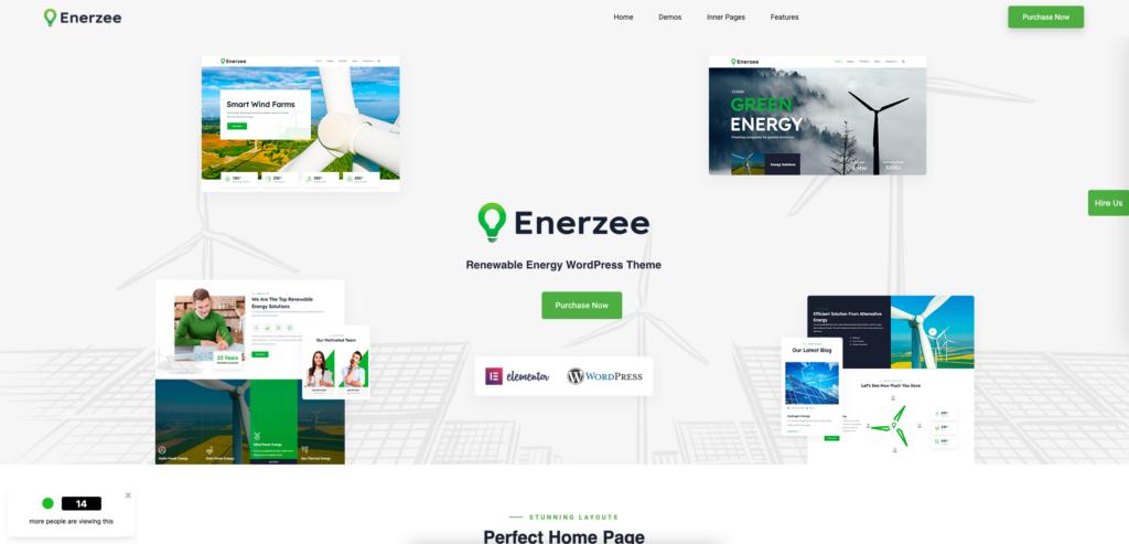 14. Enerzee - Renewable Energy WordPress Theme