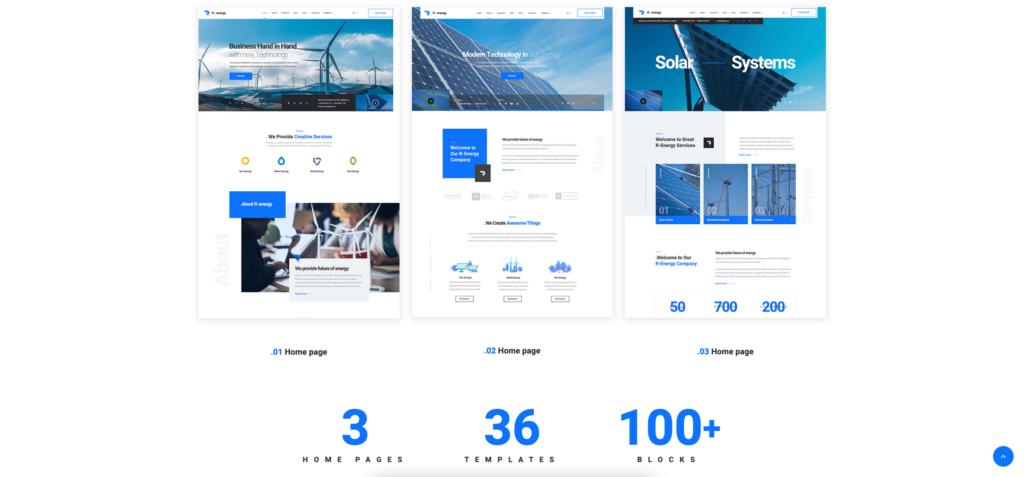 6. Renergy - Solar and Renewable Energy WordPress Theme