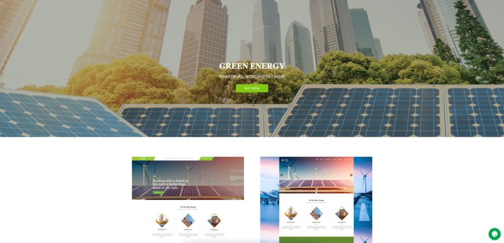 11. Green Energy - For Renewable Company WordPress Theme