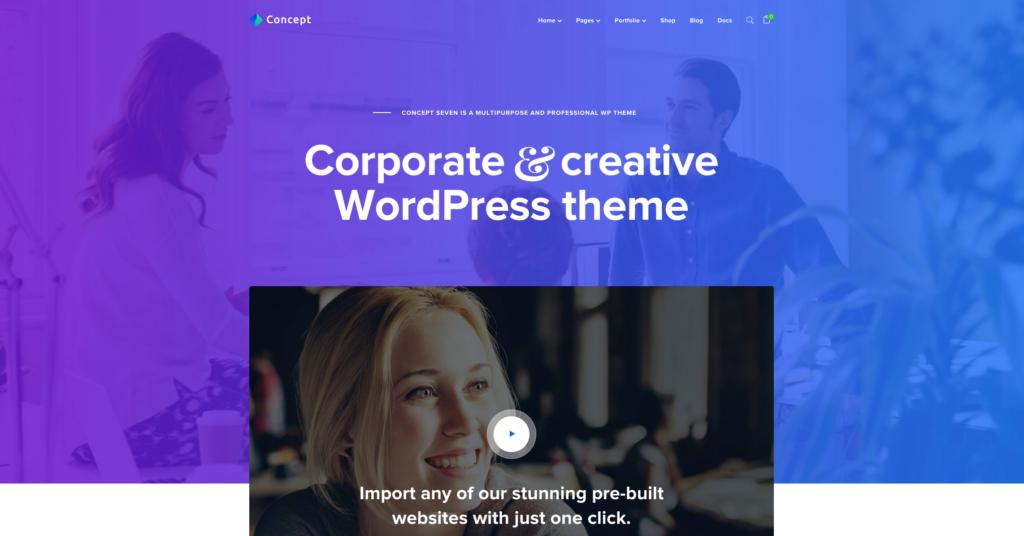 Concept Seven | Responsive Multipurpose WordPress Theme
