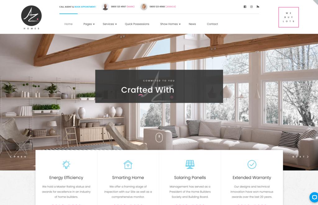AZhomes - Local Home Builders WordPress Theme