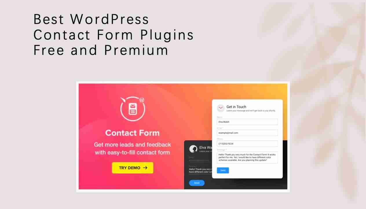 best wordpress contact form plugins free and premium
