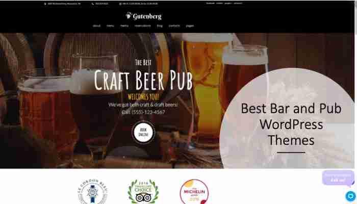 Best Bar and Pub WordPress Themes