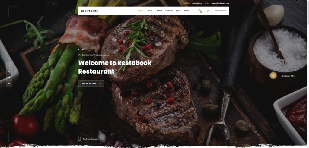 Restabook Pub WordPress theme
