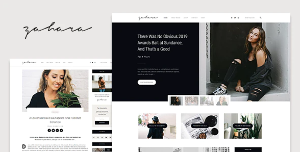 Zahara - A WordPress Blog & Shop Theme