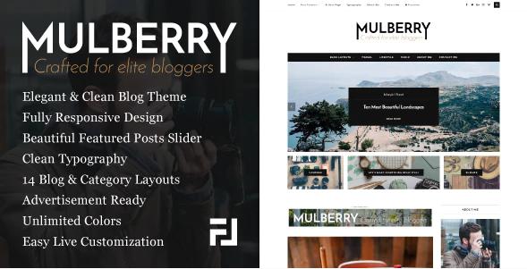 Mulberry - An Elegant Responsive WordPress Blog Theme