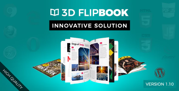 WordPress 3D FlipBook Plugin