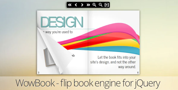 WowBook flipbook jQuery Plugin