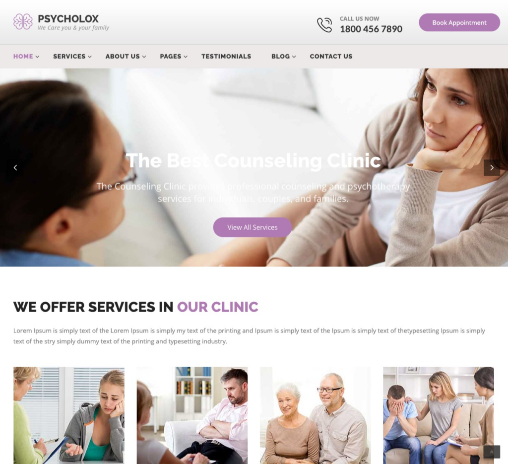 Psycholox : Psychology & Counseling WordPress Theme