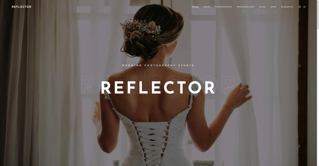 Reflector Wedding Photography wordpress theme
