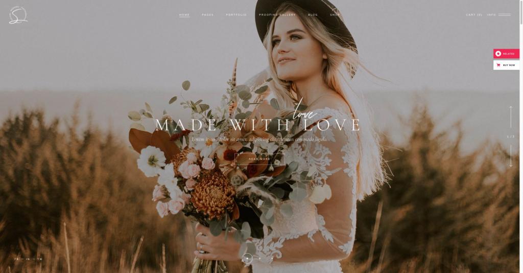 Solene - Wedding Photography wordpress Theme