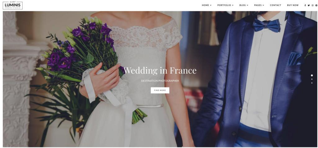 Luminis - Photography WordPress Theme for Wedding, Travel, Event Portfolios