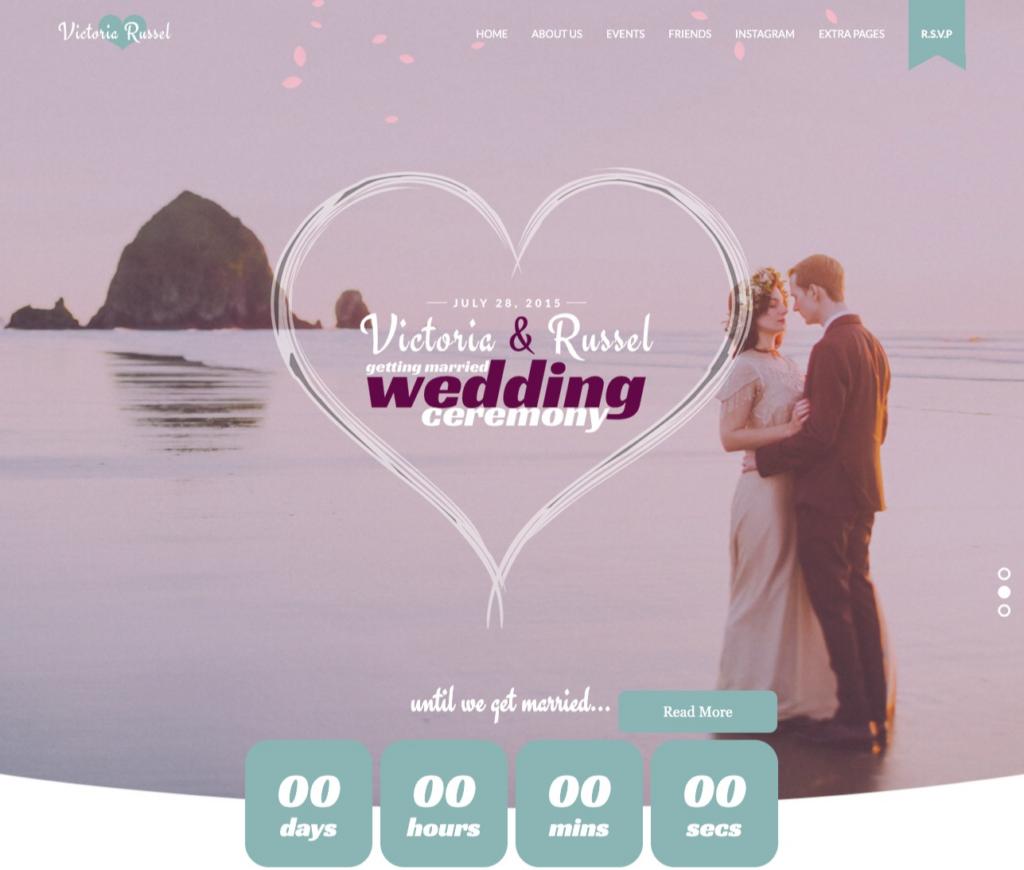 Fuchsia - Joomla Wedding Template