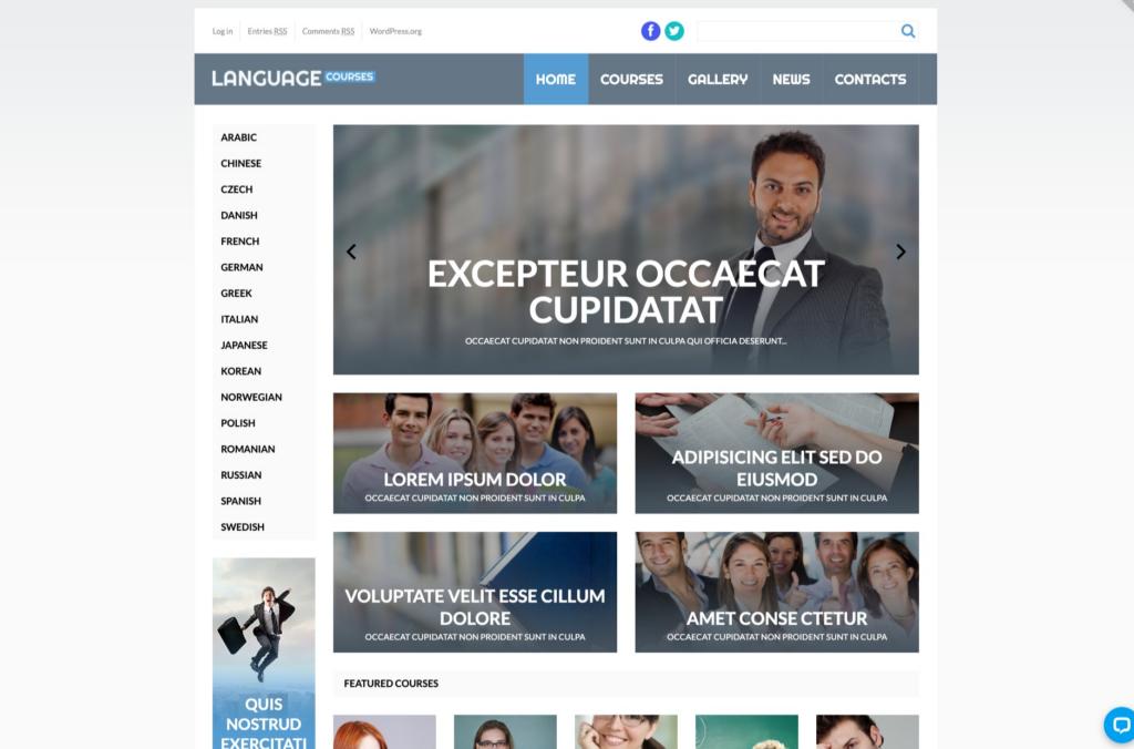 Language Courses WordPress Theme