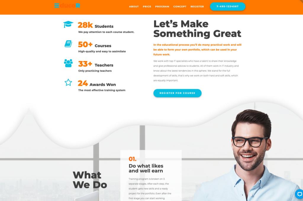 17. Educor - Education Courses WordPress Elementor Theme